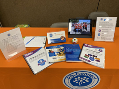 PD-Connect Information on a table at a Parkinson's Event
